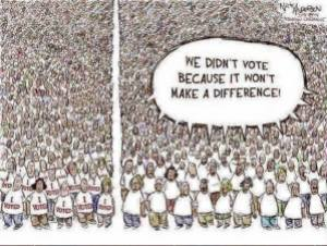 We Didn't Vote Cartoon